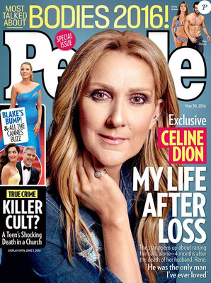 Céline Dion - Couverture people Magazine  [USA] (30 Mai 2016)