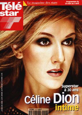 Céline Dion - Couverture Télé Star Magazine [France] (23 Mars 1998)