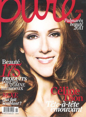 Celine Dion - Couverture Pure Magazine [France] (Octobre - Novembre 2011)