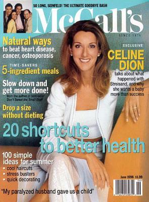 Celine Dion - Couverture McCall's Magazine [USA] (Juin 1998)