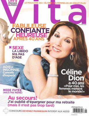 Celine Dion - Couverture Vita Magazine [France] (Automne 2008)