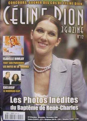 Céline Dion - Couverture Céline Dion Magazine [France] n°12