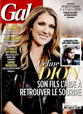 Celine Dion - Couverture Gala Magazine [France] (25 Mai 2016)