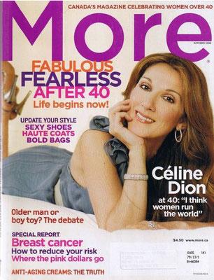 Céline Dion - Couverture More Magazine  [Canada] (Octobre 2008)