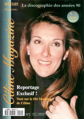 Céline Dion - Couverture Céline Dion Magazine [France] n°2