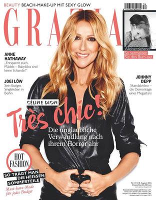 Céline Dion  - Couverture GRAZIA Magazine  [Allemagne] (18 Aout 2016)