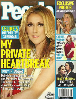 Céline Dion - Couverture People Magazine Cover [USA] (22 Fevrier 2010)