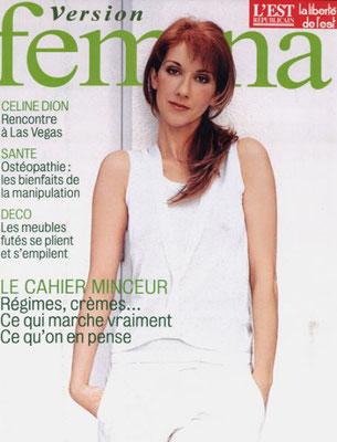 Celine Dion - Couverture Femina Magazine [France] (Mars 2003)
