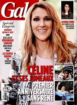 Celine Dion - Couverture Gala Magazine [France] (2 Novembre 2016)
