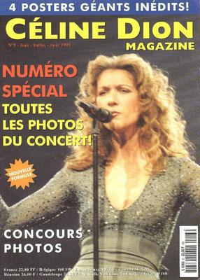 Céline Dion - Couverture Céline Dion Magazine [France] n°5