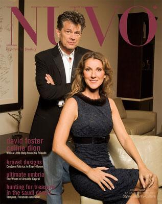 Celine Dion et David Foster - Couverture Nuvo Magazine [Canada] (Novembre 2005)