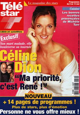 Céline Dion - Couverture Télé Star Magazine [France] (3 Mai 1999)