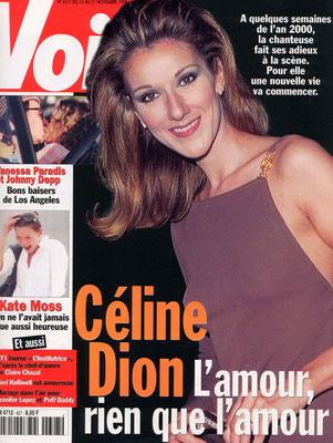 Céline Dion - Couverture Voici Magazine [France] (15 Novembre 1999)