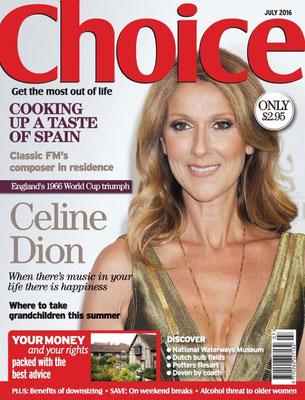 Céline Dion - Couverture Choice[Grande Bretagne] (Juillet 2016)