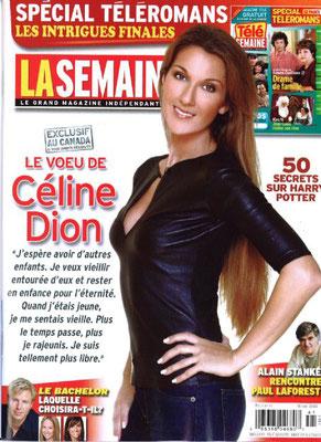 Celine Dion - Couverture La Semaine Magazine [France] (18 Novembre 2005)