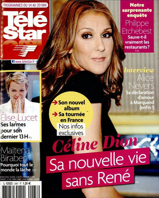 Céline Dion - Couverture Télé Star Magazine [France] (14 Mai 2016)