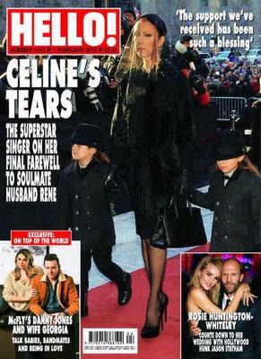 Céline Dion et ses jumeaux Couverture Hello! Magazine  [Grande-Bretagne] (1 Fevrier 2016)