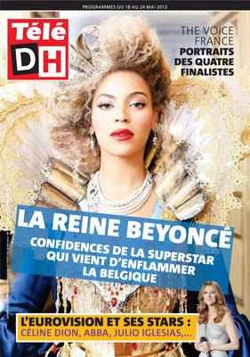 Beyoncé , Céline Dion - Couverture Télé DH Magazine [Belgique] (18 Mai 2013)