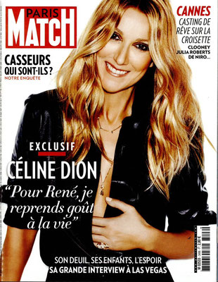 Céline Dion - Couverture Paris Match Magazine [France] (19 Mai 2016)