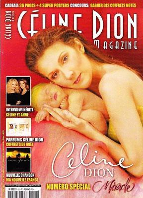 Céline Dion - Couverture Céline Dion Magazine [France] n°20