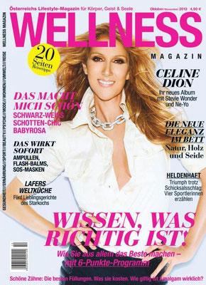 Céline Dion - Couverture Wellness Magazine  [Australie] (Octobre - Novembre 2013)
