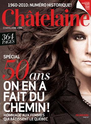 Céline Dion - Couverture Chatelaine Magazine  [France] (Fevrier 2009)