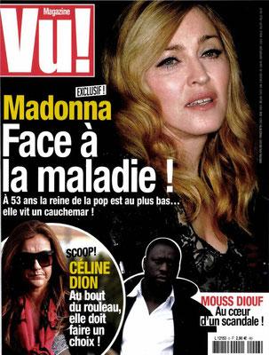 Madonna , Céline Dion ... - Couverture Vu Magazine [France] (Avril - Mai 2012)