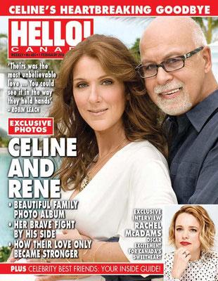 Céline Dion, René Angelil - Couverture Hello! Magazine  [Canada] (1 Fevrier 2016)