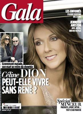 Céline Dion - Couverture Gala Magazine  [France] (12 Mars 2014)