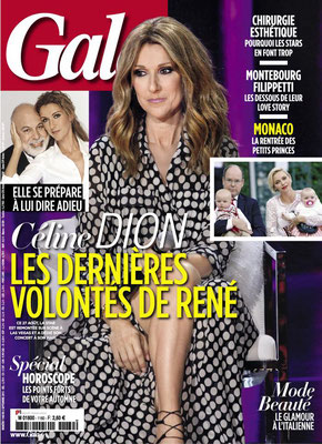 Celine Dion - Couverture Gala Magazine [France] 2 Septembre 2015)