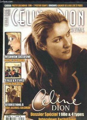 Céline Dion - Couverture Céline Dion Magazine [France] n°18