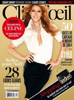 Céline Dion - Couverture Clin D'oeil Magazine [Canada] (Novembre 2013)