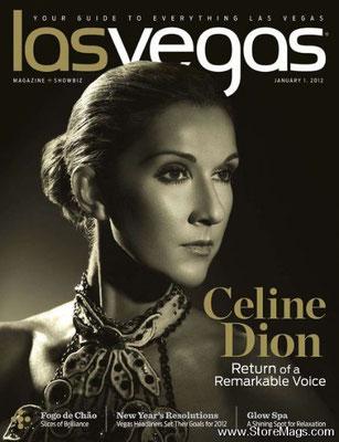 Céline Dion - Couverture Las Vegas Magazine  [USA] (Janvier 2012)