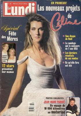 Céline Dion - Couverture Le Lundi Magazine  [Canada] (9 Mai 1998)