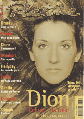 CelineDion - Couverture Platine Magazine [France] (Decembre 1999)