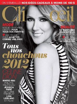Céline Dion - Couverture Clin D'oeil Magazine [Canada] (Decembre 2012)