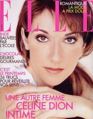 Celine Dion - Couverture Elle Magazine [France] (18 Mars 2002)