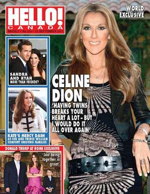 Céline Dion - Couverture Hello! Magazine  [Canada] (12 Septembre 2011)