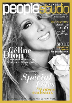 Céline Dion - Couverture People Studio Magazine  [France] (Octobre 2013)