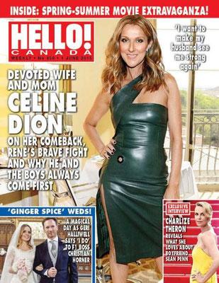 Céline Dion - Couverture Hello! Magazine  [Canada] (1 Juin 2015)