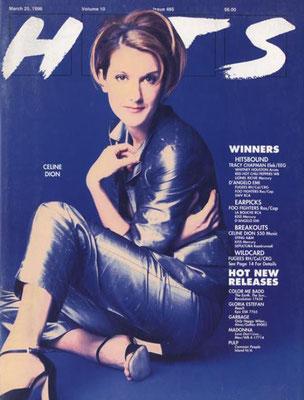 Celine Dion - Couverture HITS Magazine [Grande-Bretagne] (25 Mars 1996)