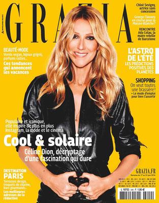 Céline Dion - Couverture Grazia Magazine  [France] (17 Juin 2016)