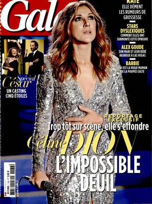 Celine Dion - Couverture Gala Magazine [France] (2 Mars 2016)