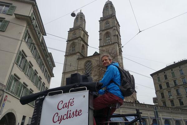 Kaffeemobil, unterwegs in Zürich