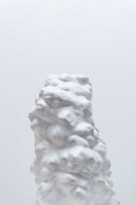white sculpture ceramics, glaze, 43x32cm