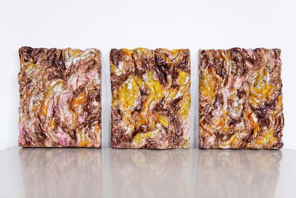 A VIsceral Attraction (2018), ceramics, multiple glazes, 47x126x7cm
