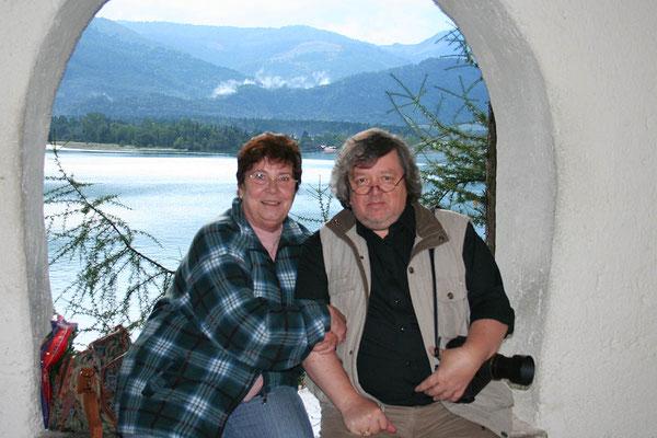 Hedy mit Michael Mössmer – der heute 40 kg leichter ist ;-) – bei einem gemeinsamen Urlaub im Salzkammergut 2007