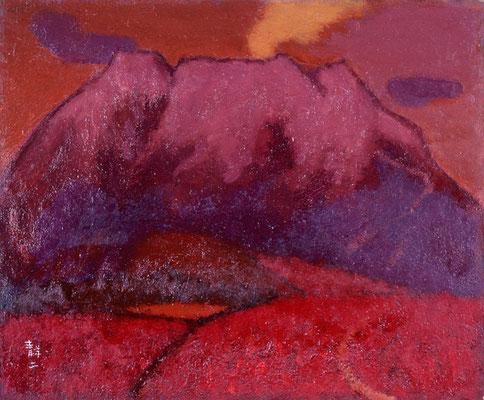 炎 1980年代 御嶽山を仰ぎ見て感じた、燃えるような心の御嶽です。