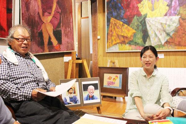 左 阿部と深谷祥子さん