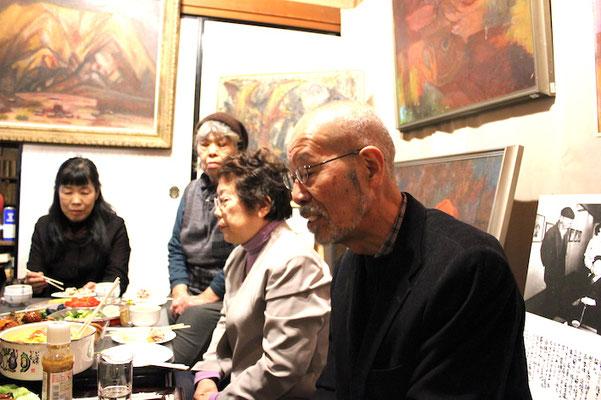 右から 弟子の 加納さん 吉村小夜さん  広瀬さん 吉村さん
